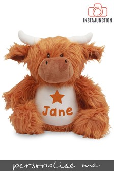 Personalised Highland Cow Name and Icon Cuddly Toy