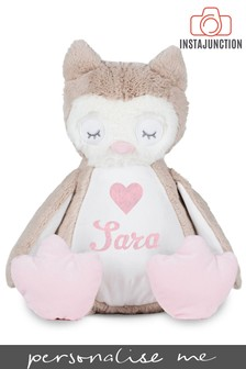 Personalised Owl Name and Icon Cuddly Toy