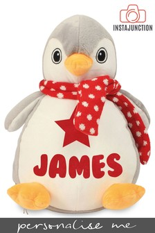 Personalised Penguin Name and Icon Cuddly Toy