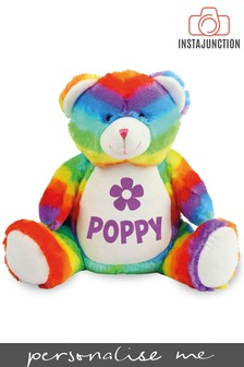 Personalised Rainbow Bear Name and Icon Cuddly Toy