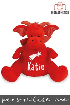 Personalised Dragon Name and Icon Cuddly Toy