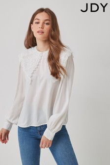 JDY Embroidered Collar Detail Blouse
