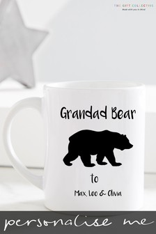Personalised Grandad Bear Mug by Gift Collective