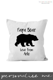 Personalised Papa Bear Cushion by Gift Collective