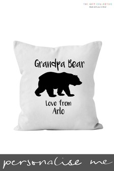 Personalised Grandpa Bear Cushion by Gift Collective