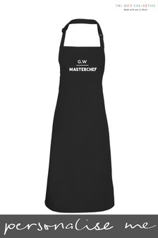 Personalised Black Apron by Gift Collective