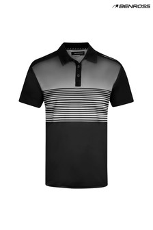 Benross Fade Stripe Polo Shirt Male