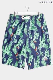 BadRhino Hibiscus Print Panel Swim Shorts
