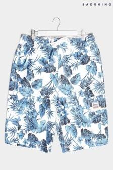 BadRhino Hibiscus Print Cargo Swim Shorts