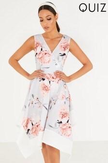 Quiz Floral Hanky Hem Dress