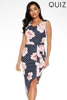 Quiz Floral Asymmetric Dress