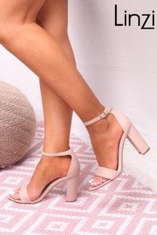 Linzi Suede Single Sole Block Heel