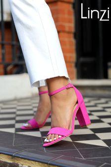 Linzi Faux Leather Single Sole Block Heel