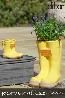 Personalised Wellington Boot Planters by Dibor