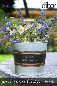 Personalised Bucket Plant Pot by Dibor