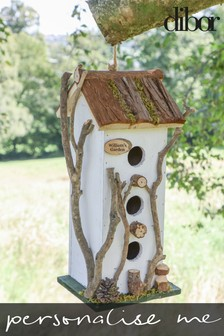 Personalised Three Tiered Bird Cottage by Dibor