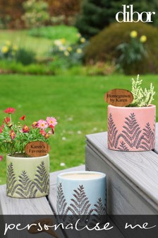 Personalised Embossed Plant Pots by Dibor
