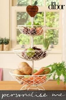 Personalised Fruir and Vegtable Rack by Dibor
