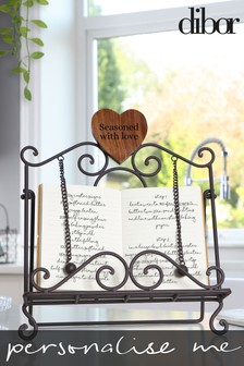 Personalised Cookbook Stand by Dibor