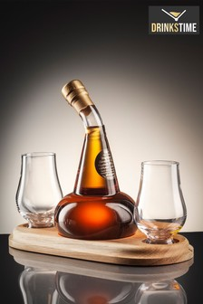 DrinksTime The Alba Collection Pot Still Malt Scotch Whisky Decanter & Two Glasses
