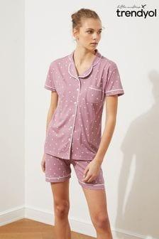 Trendyol Polka Dot Print Short Pyjamas