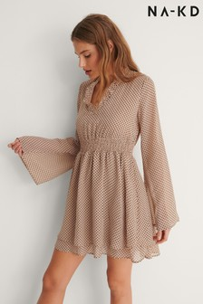 NA-KD Shirred Detail Dress