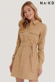 NA-KD Workwear Utility Mini Dress