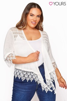 Yours Lace Detail Waterfall Shrug