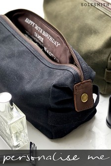 Personalised Mens Hidden Message Wash Bag by Solesmith
