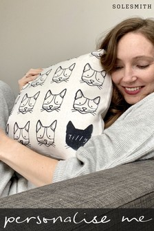 Personalised Cat Cushion by Solesmith