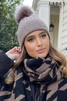 Lipsy Super Soft Ribbed Pom Hat
