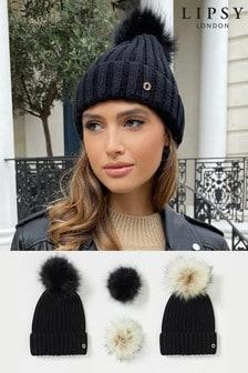 Lipsy Changeable Pom Hat