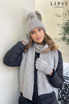 Lipsy Cosy Cable Knit Scarf