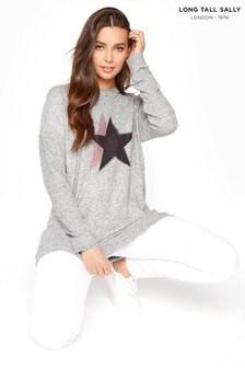 Long Tall Sally Star Diamante Sweatshirt
