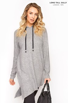 Long Tall Sally Longline Soft Touch Hoodie Tunic