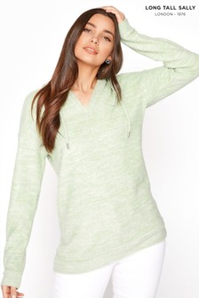 Long Tall Sally V Neck Soft Touch Hoodie