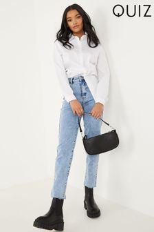 Quiz High Waist Mom Jeans