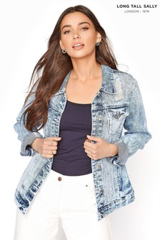 Long Tall Sally Distressed Denim Jacket