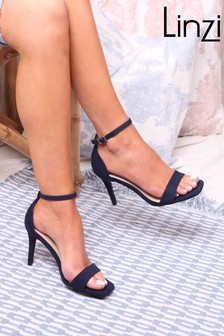 Linzi Kimmy Open Back Barely There Stiletto Sandal