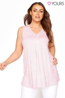 Yours Gingham Swing Vest