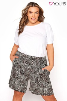 Yours Jersey Shorts Animal Texture