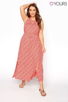 Yours Ditsy Floral Keyhole Dress