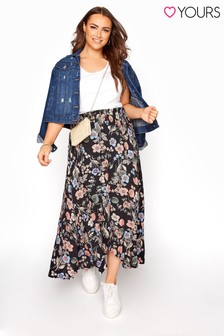Yours Tulip Floral  Skirt