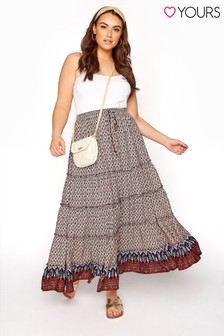 Yours Tiered Floral Gypsy Skirt