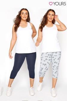 Yours 2 Pack Crop Legging