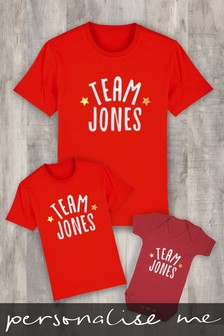 Personalised Family Team Name Baby Grow Bodysuit by Instajunction