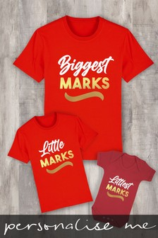 Personalised Biggest, Little, Littlest Family Name Baby Grow Bodysuit by Instajunction
