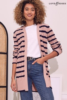 Love & Roses Cosy Cable Cardigan
