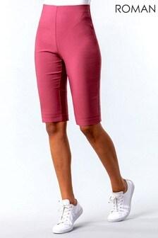 Roman Knee Length Stretch Shorts