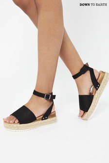 Down To Earth Flatform Sandal